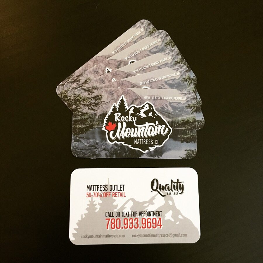 Rocky Mountain Mattress Co. Linen Business Card