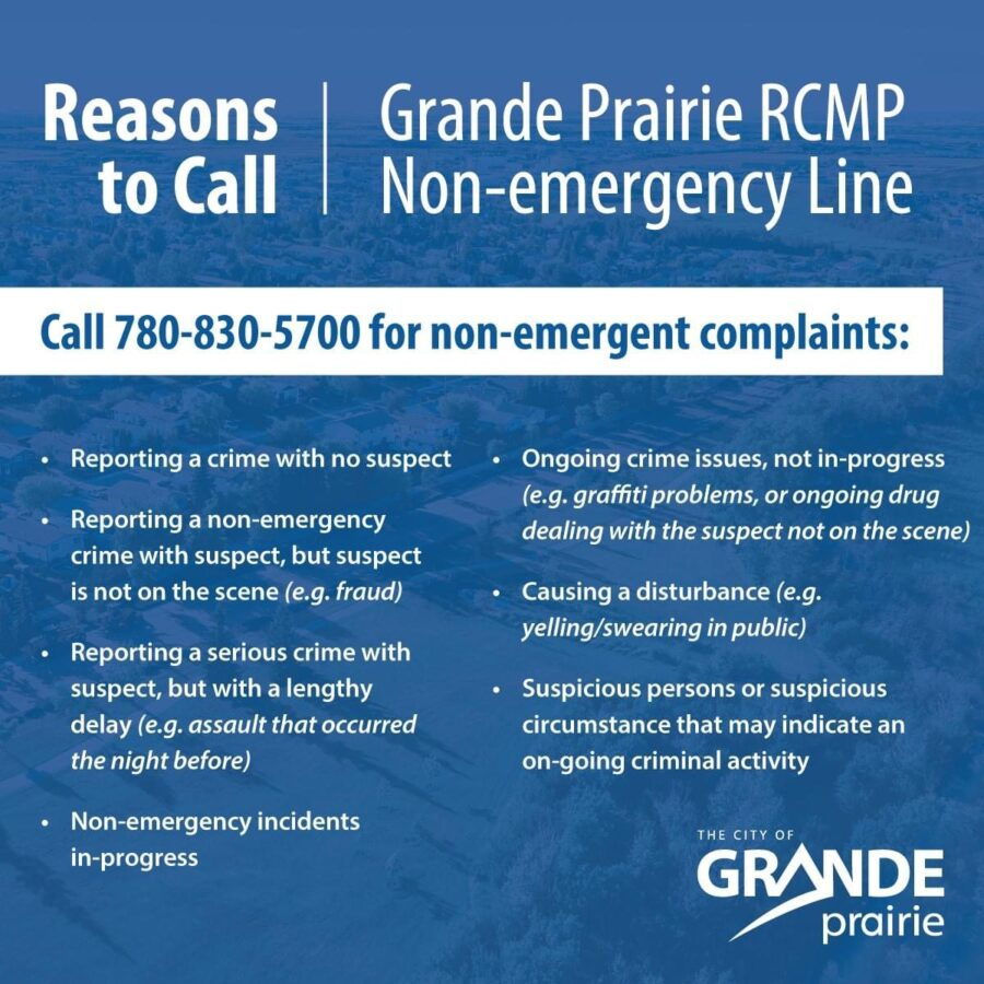 GP RCMP Non-Emergency Phone Line
