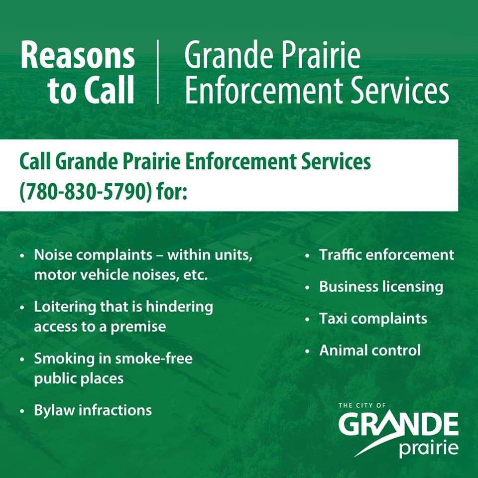 Grande Prairie Enforcement Services Phone Line